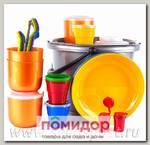 Набор посуды для пикника на 4 персоны Пчелка в футляре (Цвета в ассортименте)