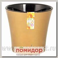 Горшок АРТЕ Золотой-Черный, 0,6 л