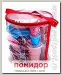 Набор посуды для рыбалки на 4 персоны в футляре-сумке (Цвета в ассортименте)