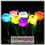 Светильник на солнечной батарее садовый Розовый тюльпан