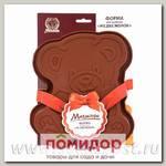 Форма для выпечки Медвежонок, 25х21х4 см (цвета в ассортименте)