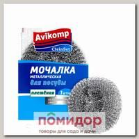 Мочалка металлическая для посуды (плетеная), 1 шт.