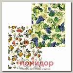 Полотенце Дивный сад Виноград на светлом, 48х62 см