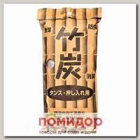 Поглотитель запаха и влаги для обуви Бамбуковый (с древесным углем) Kokubo, 2 шт.