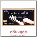 Перчатки для приготовления пищи, размер М (тонкие, неопудренные), 20 шт.