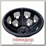 Кашпо пластиковое подвесное Прекрасный цветочный шар 12 ячеек, черное