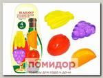 Набор охладителей для напитков Фрукты, 4 шт.