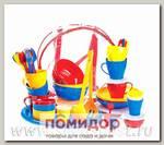 Набор посуды для приятного отдыха-4 на 6 персон в футляре-сумке (Цвета в ассортименте)