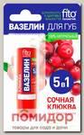 Вазелин для губ Сочная клюква (от обветривания), 4,5 г