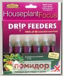 Капельный дозатор (Питание для комнатных растений) Houseplant Focus Drip Feeders, 6х38 мл