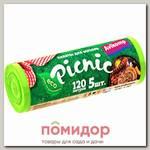 AV Avikomp Picnic Пакеты ПВД для мусора, салатовые, 120 л, 5 шт. (рулон)