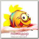 Игрушка-мочалка растущая в воде Рыбка Оранжевая