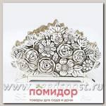 Салфетница Букет роз, 3 х 8 х h13 см, 1008-MR